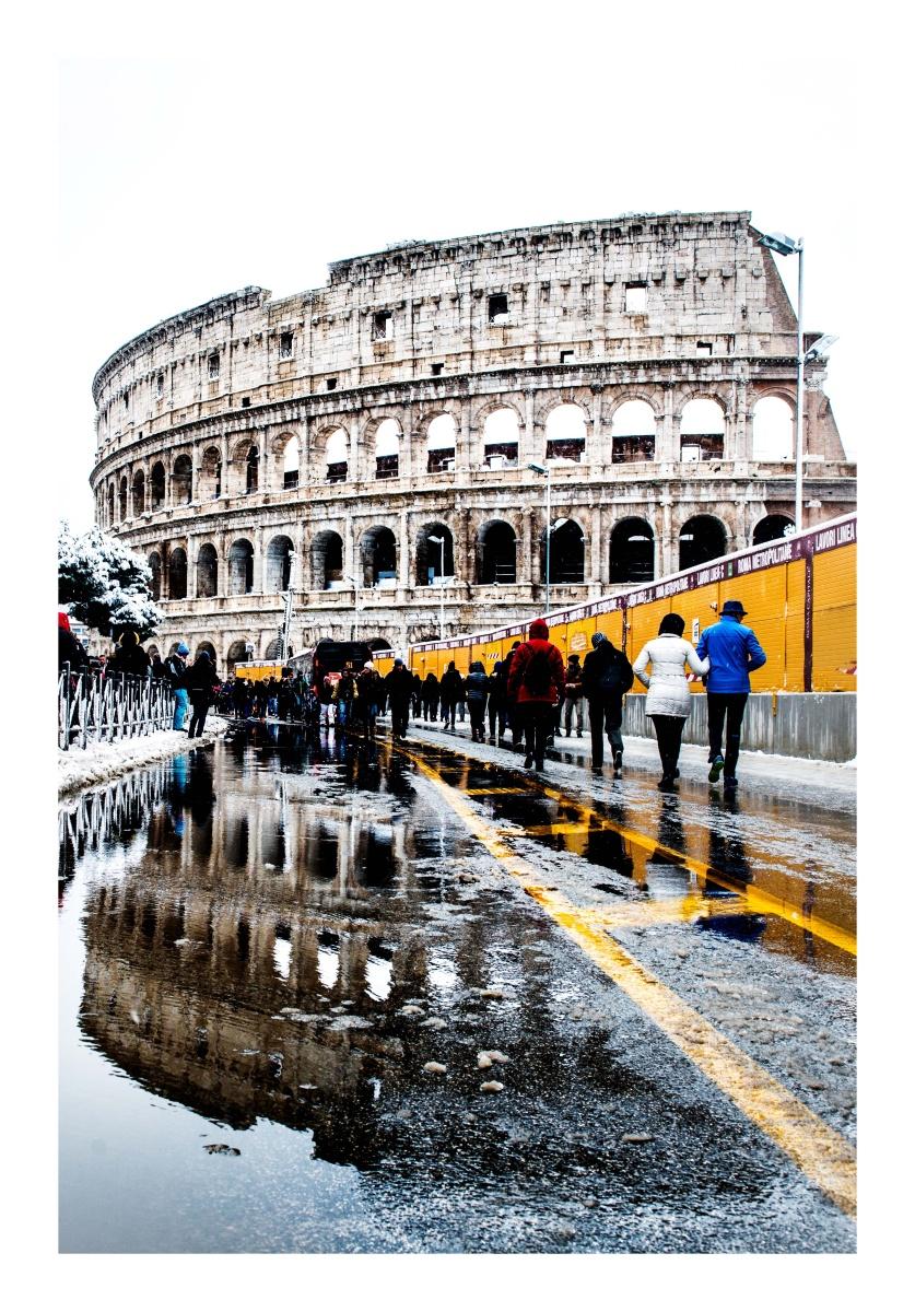 La neve su Roma